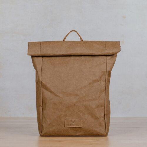 NORDLICHT Rucksack Aus Kraftpapier Noan braun
