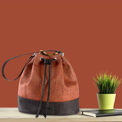 Corkor Bucket Bag Kork-tasche rot