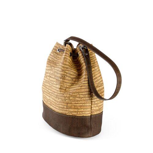 Corkor Bucket Bag Kork-tasche zebra