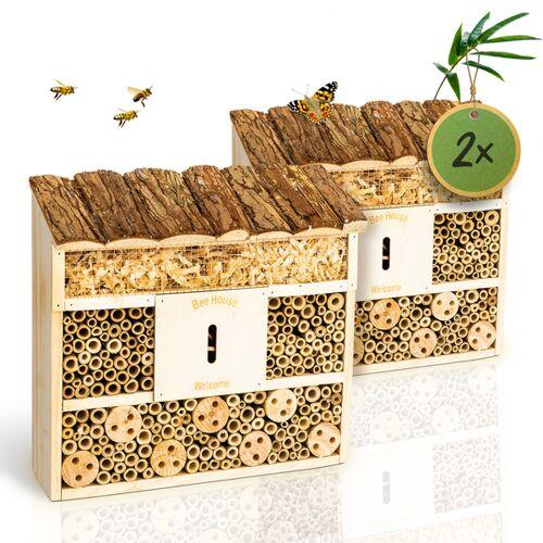 Bambuswald© 2 Stück : Insektenhotel 29,5 x 10 x 28,5 Cm   Bienenhotel
