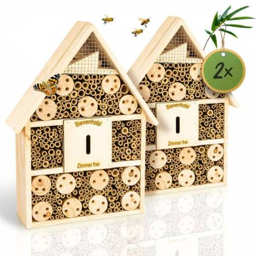 Bambuswald© 2 Stück : Insektenhotel 28,5 x 9 x 39 Cm   Bienenhotel