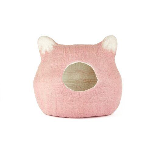short'n'pietz Handgefilzte Katzenhöhle rosa