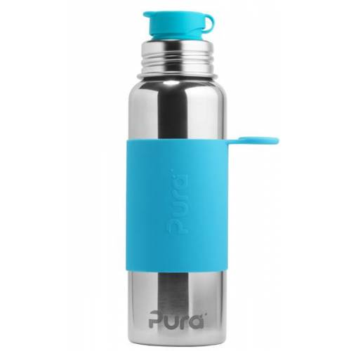 Pura Kiki Sportflasche 800ml Mit Sleeve aqua