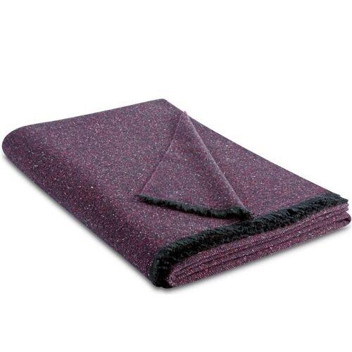 biederlack Wollplaid Mit Seide Wunderbar Leichte Plaid Ist Aus Feinsten Garnen Gewebt purple