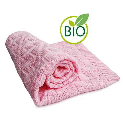 Sonnenstrick Babydecke Mit Rauten-muster rosa