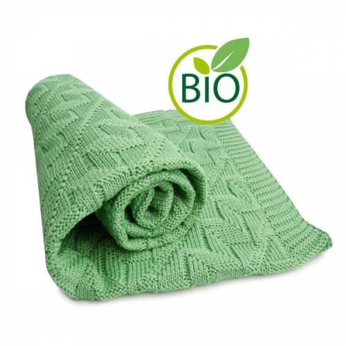 Sonnenstrick Babydecke Mit Rauten-muster grün