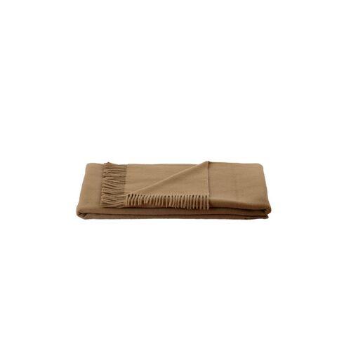 Steinbeck Wolldecke/wohnplaid Genua Reine Lambswool kamel 130x190 cm