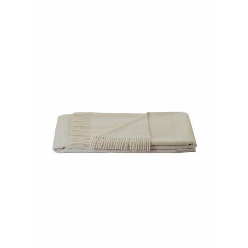 Steinbeck Wolldecke/wohnplaid Genua Reine Lambswool weiß 95x130 cm