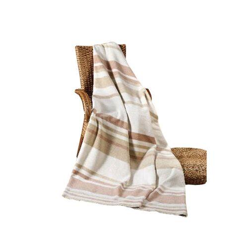 Richter Textilien Linien beige/zimt/olive 150 x 200 cm