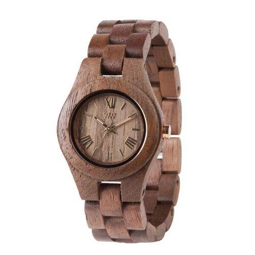 Wewood Holz-armbanduhr Criss Nut   100% Hautverträglich