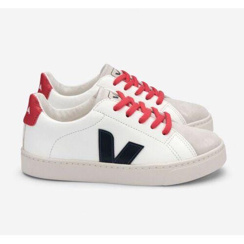 Veja Kinder Sneaker - Esplar Lace Leather weiß (white nautico pekin laces) 32
