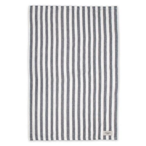 Aspegren Geschirrtuch Aus Halbleinen Mit Bio-baumwolle 50 x 70 Cm lines white/black
