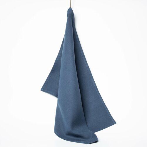 nahtur-design Leinen-geschirrtuch 50 x 70 Cm blau