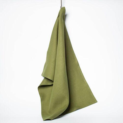 nahtur-design Leinen-geschirrtuch 50 x 70 Cm moos (grün)