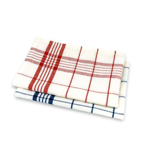 Living Crafts Geschirrtuch blue/red 50x70