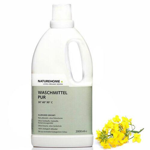 NATUREHOME Veganes Allergiker Bio Waschmittel Sensitive Pur 2,0 L / 1,0 L / 3x2,0 L