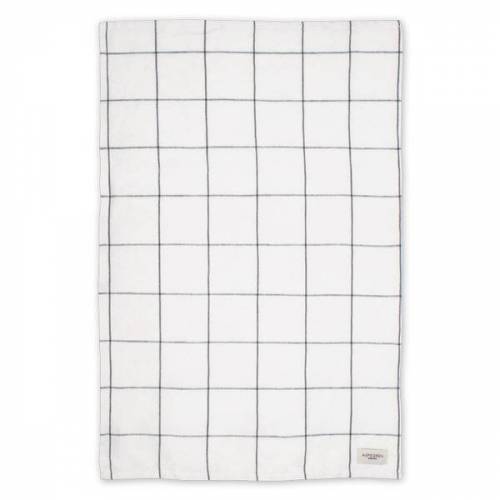 Aspegren Geschirrtuch Aus Halbleinen Mit Bio-baumwolle 50 x 70 Cm squares white/grey