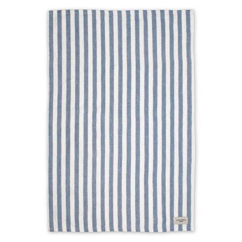 Aspegren Geschirrtuch Aus Halbleinen Mit Bio-baumwolle 50 x 70 Cm lines pearl/blue