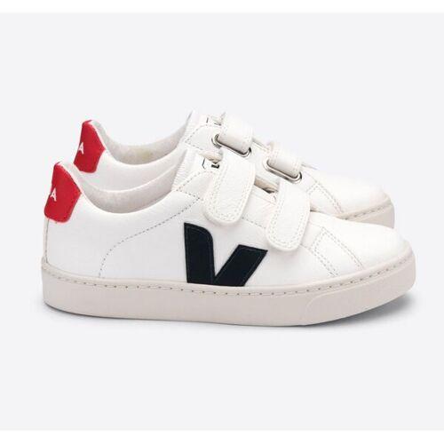 Veja Sneaker Kinder - Esplar Velcro Leather weiß (white nautico pekin) 34