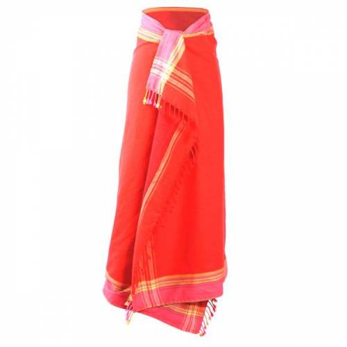 Africulture Kikoy Frottee Strandtuch, Sarong rot