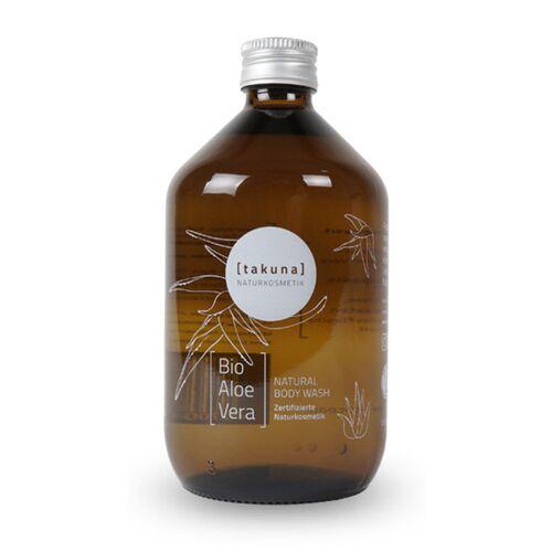 Takuna Naturkosmetik Body Wash   Bio-aloe Vera 500ml In Glas-mehrwegflasche