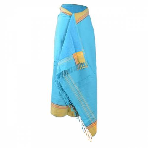 Africulture Kikoy Frottee Strandtuch, Sarong türkis