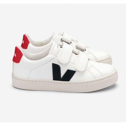 Veja Sneaker Kinder - Esplar Velcro Leather weiß (white nautico pekin) 33