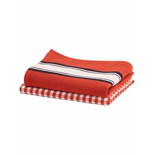 Living Crafts Geschirrtuch, 2er-pack red clay one size