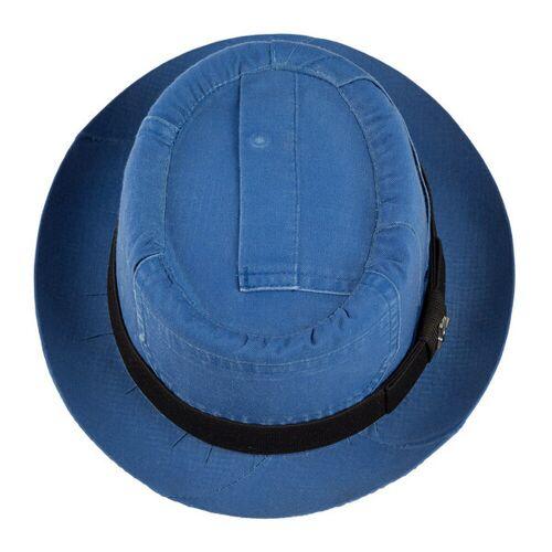"ReHats Berlin Pork Pie ""Hausmann"" Aus Arbeitskleidung - Hellblau hellblau 60 cm"