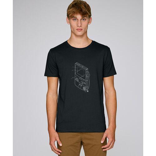 Kultgut T-shirt Mit Motiv / Retro-gameboy schwarz XS