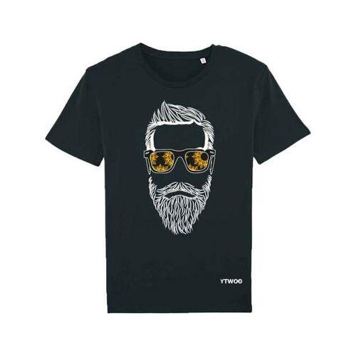 YTWOO T-shirt Hippen Bartträger schwarz M