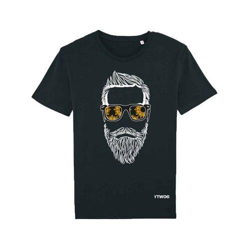 YTWOO T-shirt Hippen Bartträger schwarz XXL