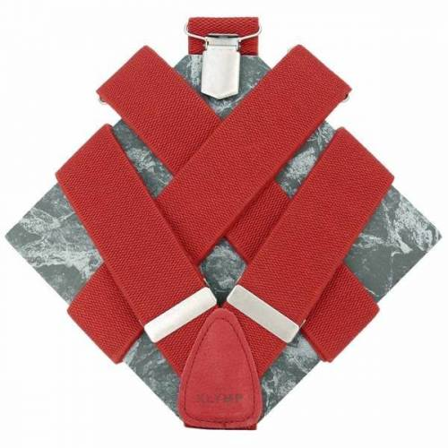 klYmp Hosenträger 'Basic' Uni rot l (130cm)
