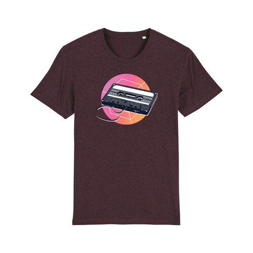 wat? Apparel Mixtape   T-shirt Herren heather grape red L