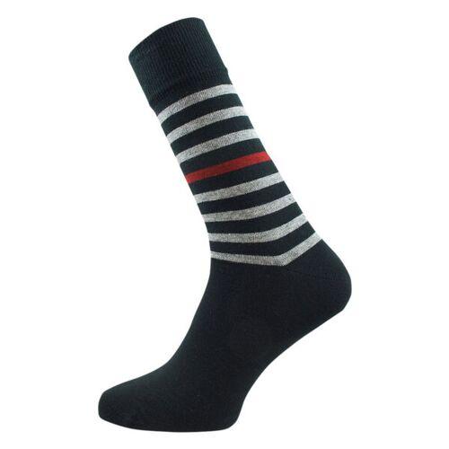 Grödo Herren Ringel Socken Bio-baumwolle schwarz/coke/burgund 45/46