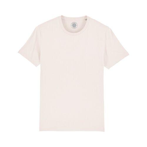 """University of Soul Unisex T-shirt Aus Bio-baumwolle """"Charlie"""" altmodisches weiß M"""