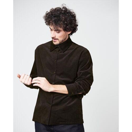 JAN N JUNE Hemd Ken For Men Cord brownblack S