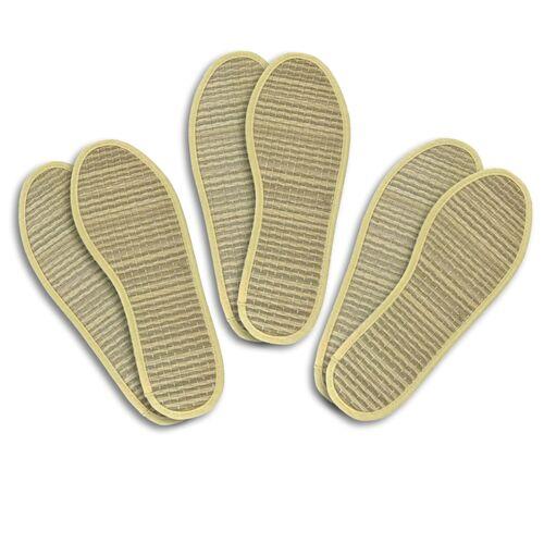 Les Tôngs Zimtsohle & Einlegesohle, 3er-pack beige (gelb) 36
