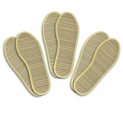 Les Tôngs Zimtsohle & Einlegesohle, 3er-pack beige (gelb) 41