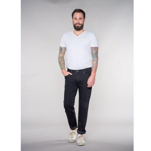 Feuervogl Slim Fit / Mid Rise Jeans Finn black/black 34/32