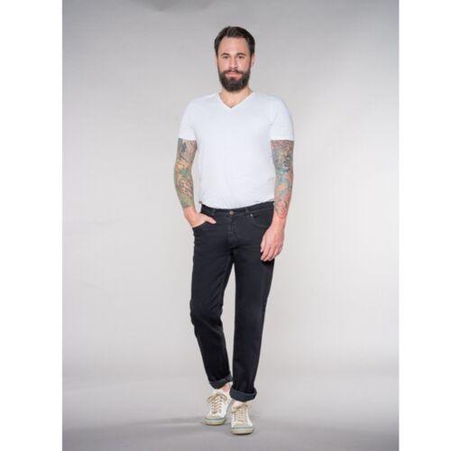 Feuervogl Slim Fit / Mid Rise Jeans Finn black/black 38/34