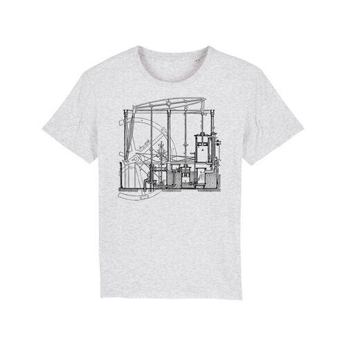 Unipolar Maschinenbau T-shirt   Dampfmaschine heather ash S