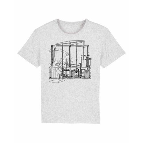 Unipolar Maschinenbau T-shirt   Dampfmaschine heather ash XL