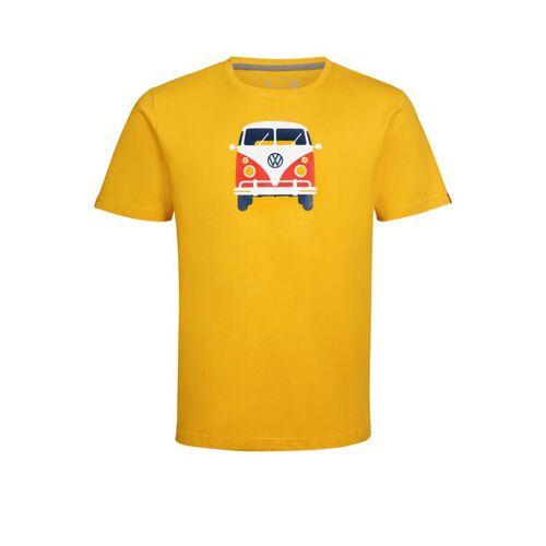 Elkline Herren T-shirt Methusalem Mit Vw Bulli Print gelb S