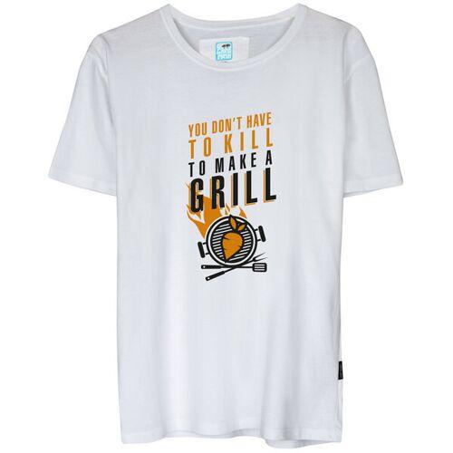 Gary Mash Shirt Veggie Grill Aus Biobaumwolle weiß XL