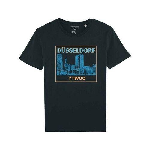 YTWOO Düsseldorf, Herren Bio T-shirt. Düsseldorfer Medienhafen schwarz XL