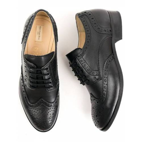 Will's Vegan Shop City Wingtip Brogue Oxfords Schwarz Herren schwarz 45