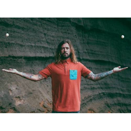 The Driftwood Tales Rotes Poloshirt / Graues Poloshirt / Graues Poloshirt Mit Driftwood Emblem rot S