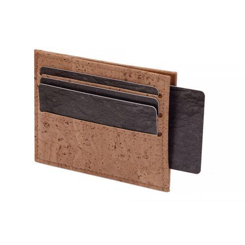 Simaru Karten Portemonnaie Aus Kork, Kreditkartenetui Für 12 Karten beige