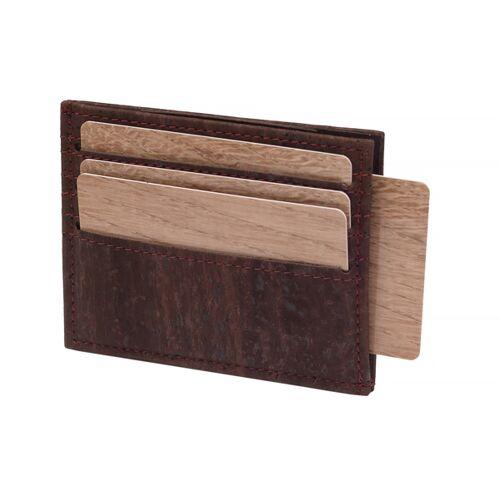 Simaru Karten Portemonnaie Aus Kork, Kreditkartenetui Für 12 Karten braun